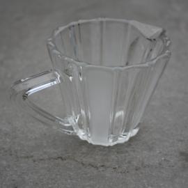 Melkkannetje glas mat/helder