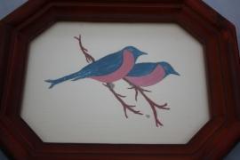 Schilderijtjes vogel