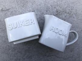 """Suikerpot en roomkannetje """"modern"""""""
