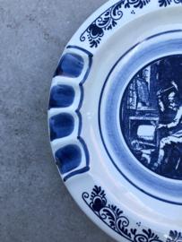 Delfts blauw wandbordje A.J. Steenkist