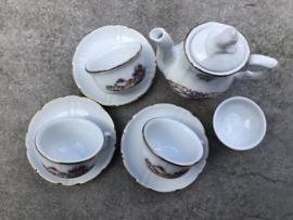 Vintage Roehler collection mini koffierserviesje