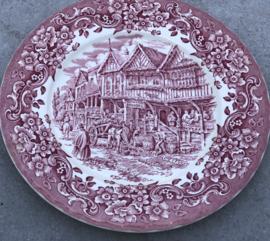 Engels bord Oud roze Royal Tudor Ware