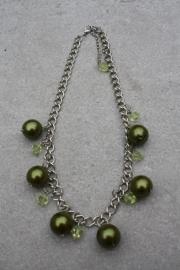 Ketting zilver groen