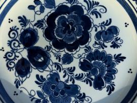 "Set wandbordjes vogel en bloem ""Delfts blauw"""