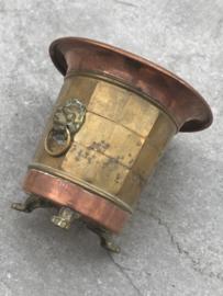 Vintage klein koperen vaasje/bakje/keteltje