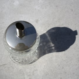 Glazen suikerpot ribbel