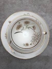 Vintage theetrio goud-bruin Winterling Marktleuthen