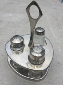 Retro tafelset glas-rvs