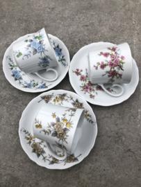 Set koffiekopjes bloem Tirschenreuth Bavaria