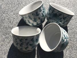 Japanse sake kopjes