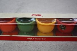 """Vintage set kunststof eierdopjes """"Emsa"""""""