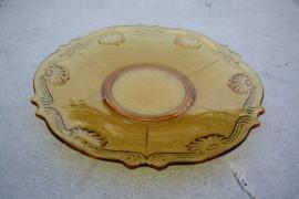 Geel glazen schaal 29 cm