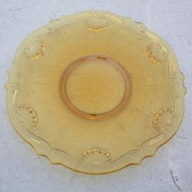 Geel glazen schaal 30 cm