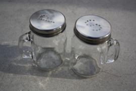 Peper- en zoutstel vintage glas