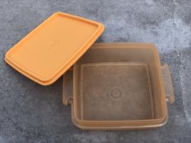 Vintage Tupperware bewaardoosje oranje seventies