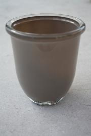 Glazen vaas taupe