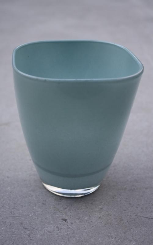 Glazen vaas lichtblauw