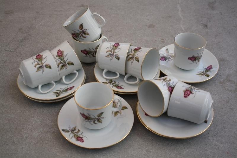 8 koffiekopjes roos Epiag