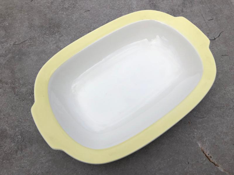 Platte serveerschaal Petrus Regout