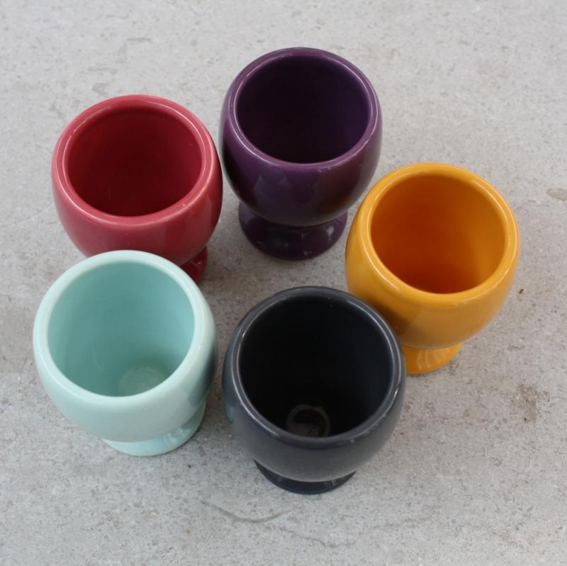 Set gekleurde eierdopjes