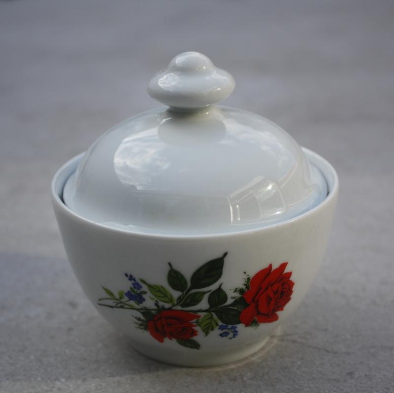 Suikerpotje rode bloem HK Bavaria