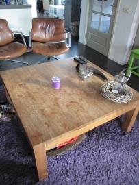 Teakhouten vierkante salontafel