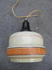 Mooie oude glazen lamp