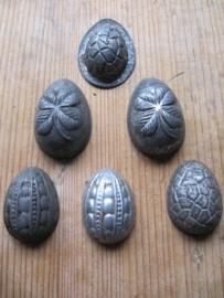 Set van 6 kleine eitjes mallen