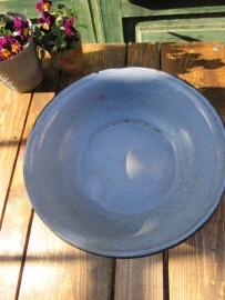 Emaille diepe schaal in blauw