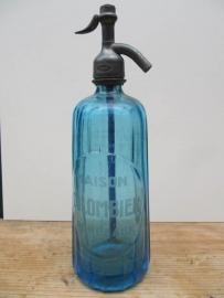 Blauwe facet spuitfles met opdruk