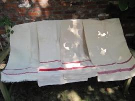 Hele oude linnen mangeldoeken
