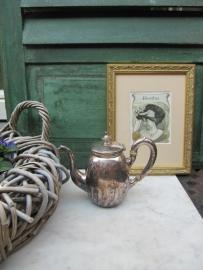 Antiek verzilverd koffiekannetje