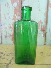 Oud groen Engels flesje