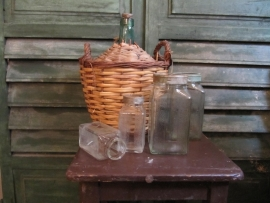 Glazen voorraadpotten set van 4 stuks