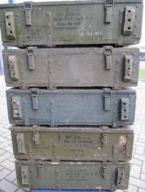Oude houten legerkist