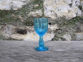 Antiek Frans blauw cocktail glas