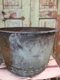 Antieke Engelse koperen ketel