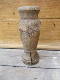 Antiek houten kandelaar of ornament