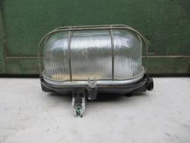 Kooilamp met geribbeld glas en bakelite onderkant