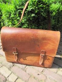 Oude lederen grote tas