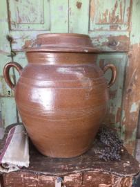 Antieke Franse grote aardewerk pot