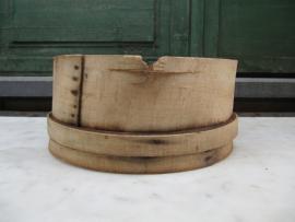 Franse ronde houten zeef