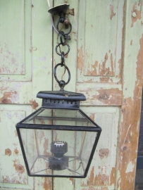 Franse oude smeedijzeren hanglamp
