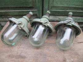 Industriële lamp compleet met mooi glas
