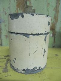 Antiek zinken (hostie)blikje