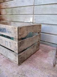 Brocante houten veilingkist
