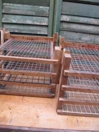 Oud houten (vlaaien) rek
