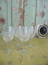 Set van 4 borrel glaasjes