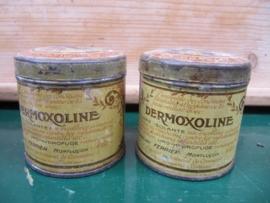 "Heel oud Frans rond blikje van ""Dermoxoline"""