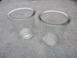 Oude Jampot glas 1/2liter